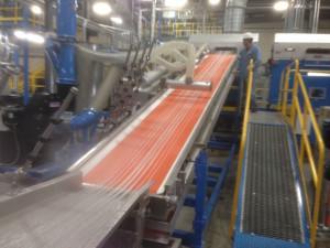 Dry cut at customers facility
